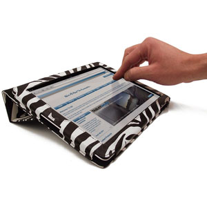 SD Tabletwear Case for iPad 2 with Smart Cover Style Front - Zebra