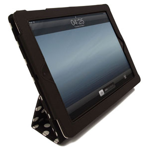 SD Tabletwear Case for iPad 2 with Smart Cover Style Front - Polka Dot