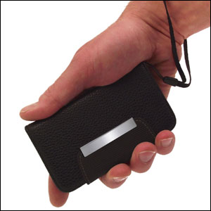 Leather Style Wallet Case for HTC One X - Black