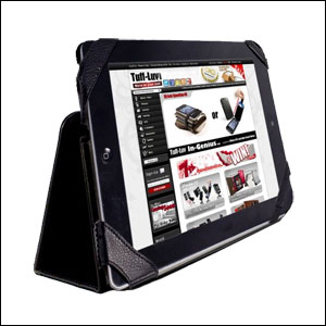 Tuff Luv Type View Series Faux Leather Case for iPad 3 - Black
