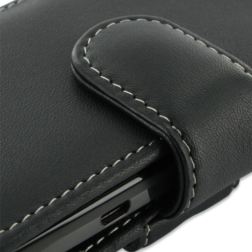 PDair Horizontal Leather Pouch Case for HTC One X - Black