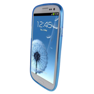 Genuine Samsung Galaxy S3 TPU Protective Cover - Blue - EFC-1G6WBECSTD