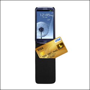 Samsung Galaxy S3 Leather Style Flip Case - Black