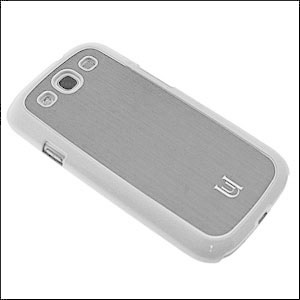 Uunique Metallic Case For Samsung Galaxy S3 - Marble White