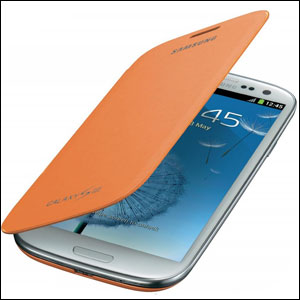 Genuine Samsung Galaxy S3 Flip Cover - Orange - EFC-1G6FOECSTD