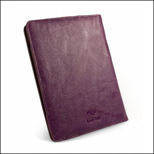 Tuff-Luv Embrace Faux leather Case For Amazon Kindle Touch - Purple