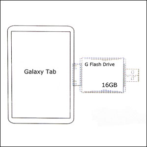 G Flash Drive For Samsung Galaxy Tab - 16GB