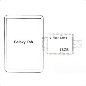 G Flash Drive For Samsung Galaxy Tab - 16GB