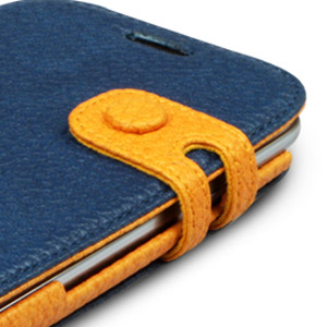 Housse Samsung Galaxy S3 Zenus Masstige Color Edge Diary - Navy - bouton