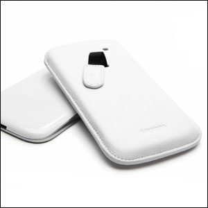 Samsung Galaxy S3 Crumena Leather Pouch Series - White