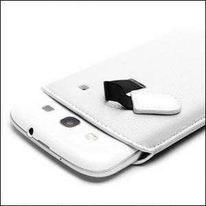 Samsung Galaxy S3 Crumena Leather Pouch Series - White