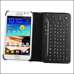 7554e2b416d Mini Bluetooth Keyboard Case - Samsung Galaxy Note