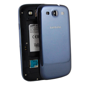 Genuine Samsung Galaxy S3 i9300 Battery Cover - Pebble Blue