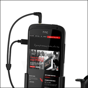 Car Mount Cradle with Hands Free for HTC One S