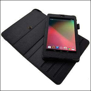 Leather Style Rotating Case for Google Nexus 7 - Black