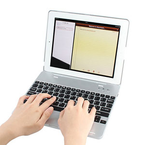 Metal Bluetooth Keyboard Case for iPad 3