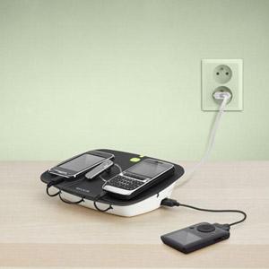 Station de chargement Belkin Conserve Valet Smart USB - vue de face