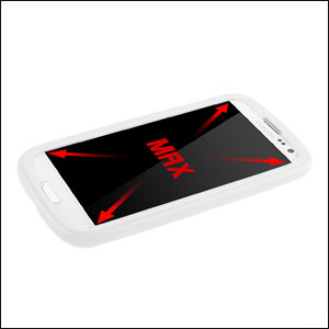Samsung Galaxy S3 Plastic Case with Screen Cover - White