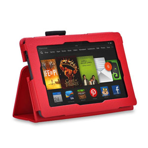 Adarga Folio Stand Amazon Kindle Fire Case - Red