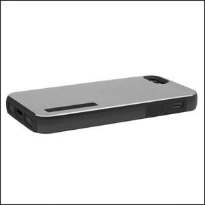 Incipio DualPro Shine Case For iPhone 5 - Silver / Black