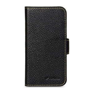 Melkco Premium Leather Wallet Case for iPhone 5 - Black