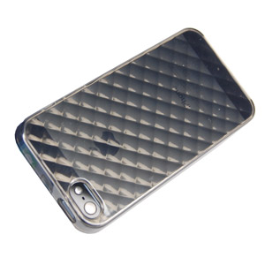 FlexiShield Diamond Skin For iPhone 5 - Smoke Black