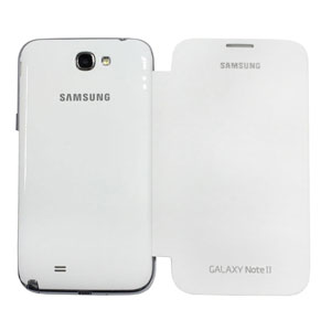Genuine Samsung Galaxy Note 2 Flip Cover - White - EFC-1J9FWEGSTD