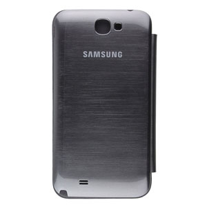 Genuine Samsung Galaxy Note 2 Flip Cover - Silver - EFC-1J9FSEGSTD