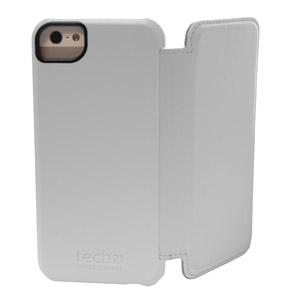 Coque iPhone 5S / 5 Tech21 Impact Snap avec rabat intégré - Blanche