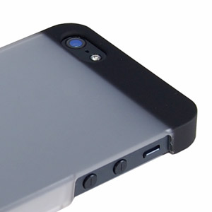 Aegis Rubber Hard Shell iPhone 5 Case - Clear / Black