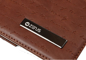 Zenus Galaxy Note 10.1 Masstige Lettering Folder Case - Brown
