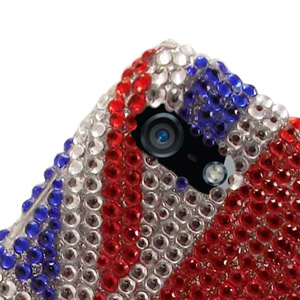 iPhone 5 Diamante Back Cover - Union Jack