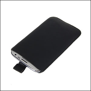 SD Suede Style Pouch Case for Note 2 - Black