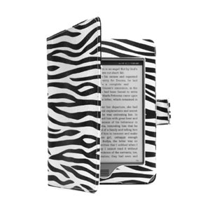 Adarga Book Kindle Paperwhite Case - Zebra