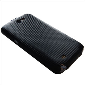 Slimline Carbon Fibre Style Flip Case for Samsung Galaxy Note 2