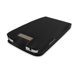 Custodia flip in ecopelle per Samsung Galaxy Note 2 - Nero