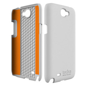 Tech21 Impact Snap Case with Cover for Galaxy Note 2 - White