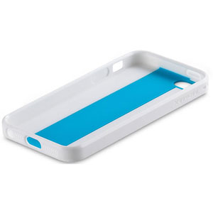 Momax i Case MX Case for iPhone 5 - White Edge with Blue