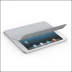 Apple Leather Smart Cover for iPad Mini - Grey