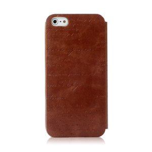 Zenus Masstige iPhone 5 Lettering Diary Series - Brown