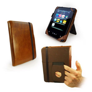Tuff-Luv Vintage Leather Case for Kindle Fire HD - Brown