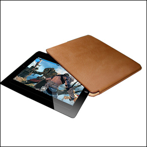 Piel Frama Unipur Pouch for iPad Mini - Tan