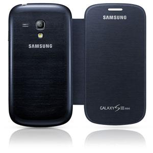 Flip Cover officielle Samsung Galaxy S3 Mini – EFC-1M7FBEC –Bleue - vue extérieure