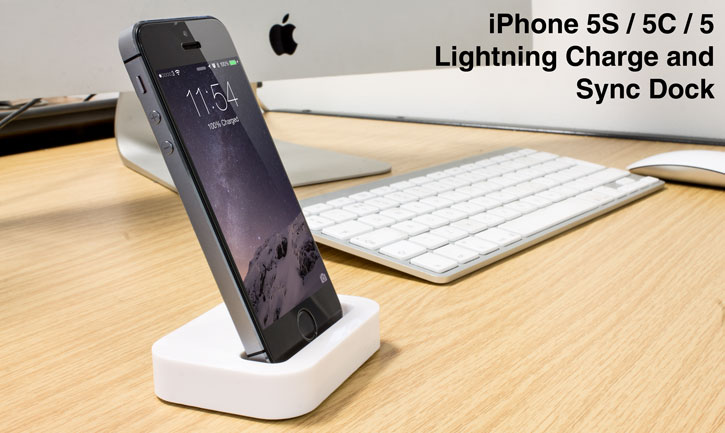 iPhone 5S / 5C / 5 Lightning Charge and Sync Dock - White