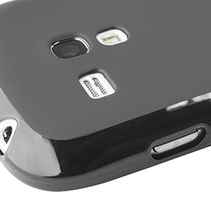 FlexiShield Skin For Samsung Galaxy S3 Mini - Smoke Black