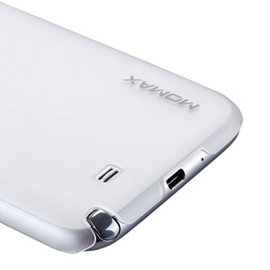 Momax Ultra-Tough Clear Touch Case for Galaxy Note 2 - White