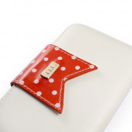 Tuff Luv Polka-Hot Case for iPhone 5 - Red/White