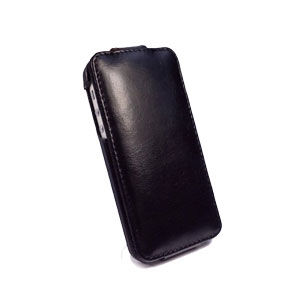 Tuff-Luv Leather In-Genuis Flip for iPhone 5 - Black