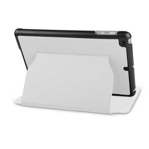 iPad Mini Ultra-Thin Leather Case with Stand - White