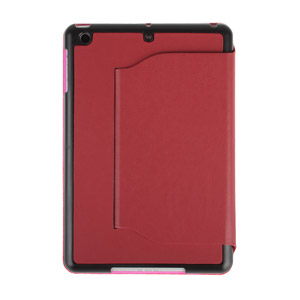iPad Mini Ultra-Thin Leather Case with Stand - Red